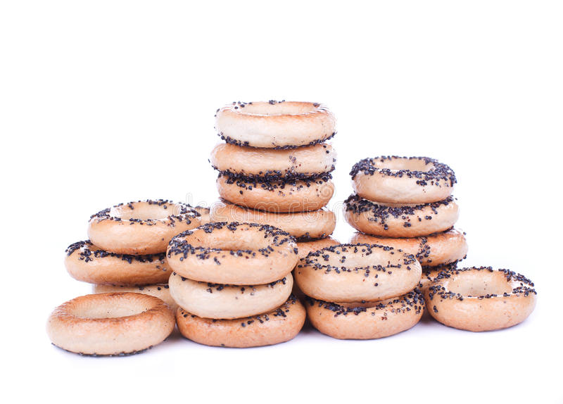 Bread Ring Stacks Stock Images