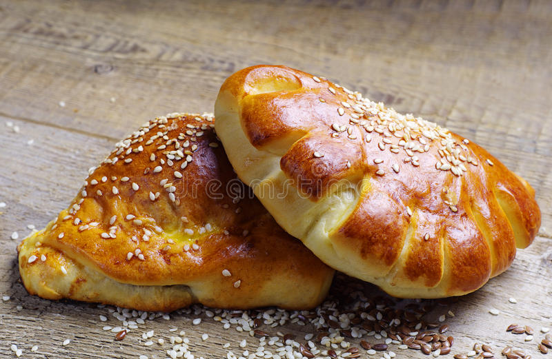 Bread roll and croissant