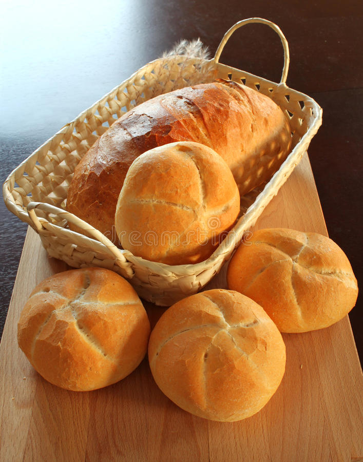 Download Bread Rolls In Basket Stock Images - Image: 11996894