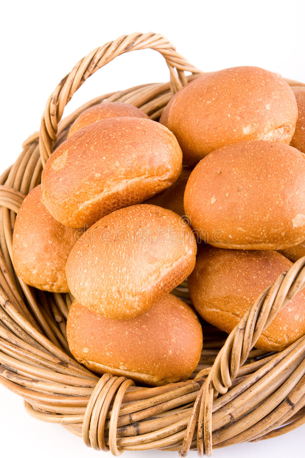 Download Bread Rolls in Basket stock photo. Image of buns, crusty - 6746570