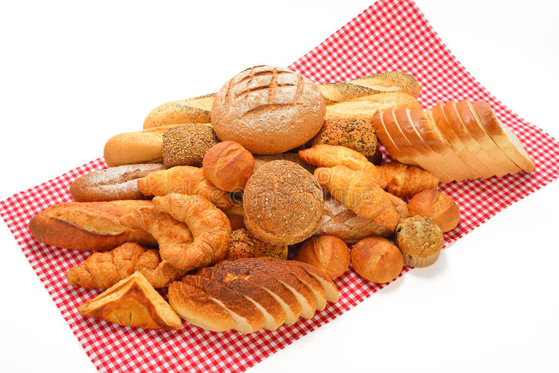 Bread and rolls stock images