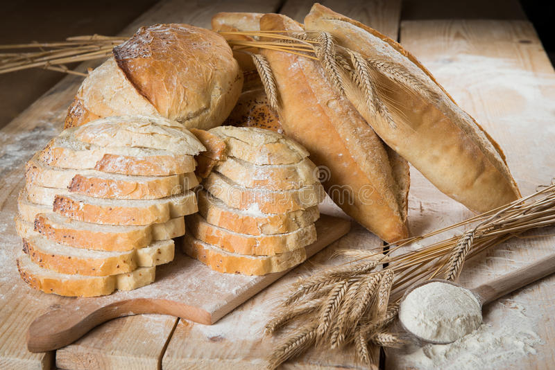 Bread rustic stock photos
