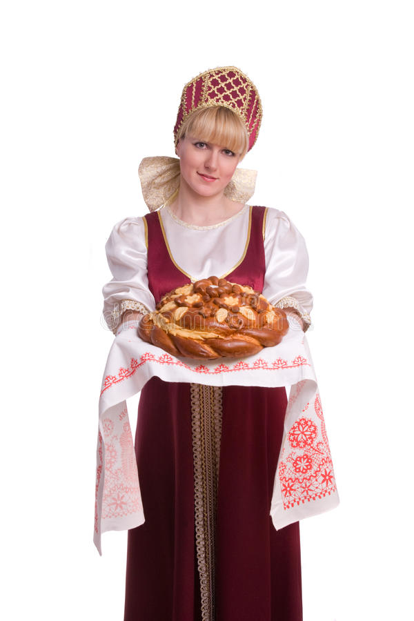 Download Bread-and-salt welcome stock image. Image of color, costume - 14556799