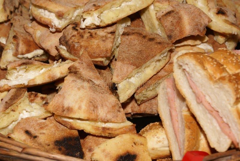 Bread sandwiches prosciutto royalty free stock image