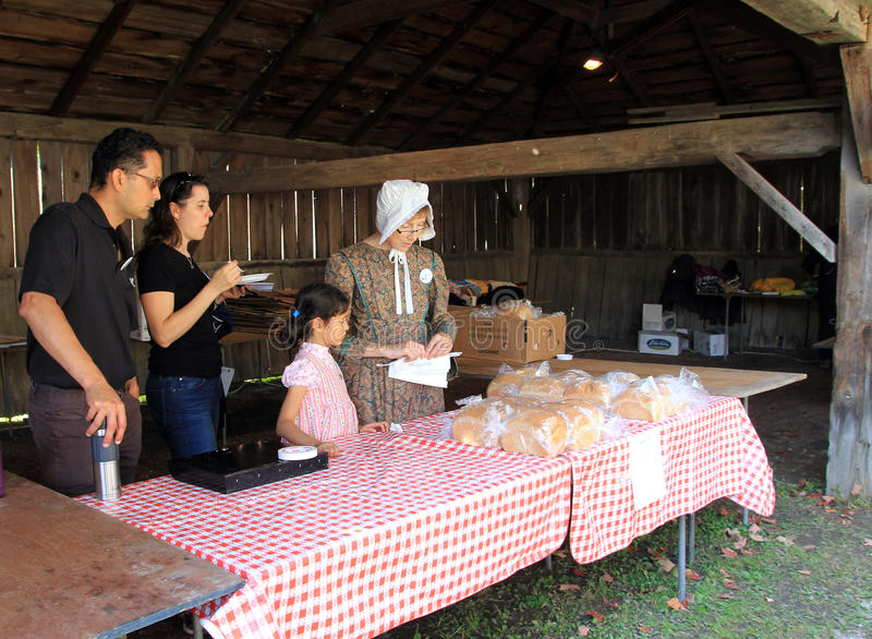 Bread Seller royalty free stock photo