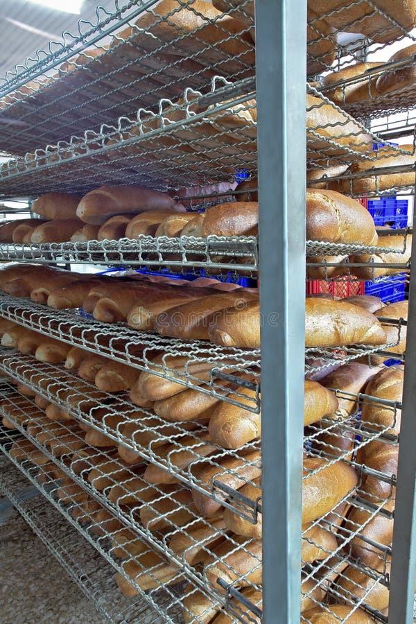 Bread on shelves royalty free stock photos