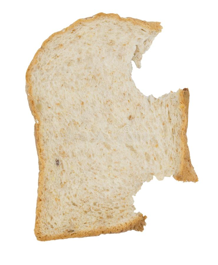 Bread slice isolated on white royalty free stock photos