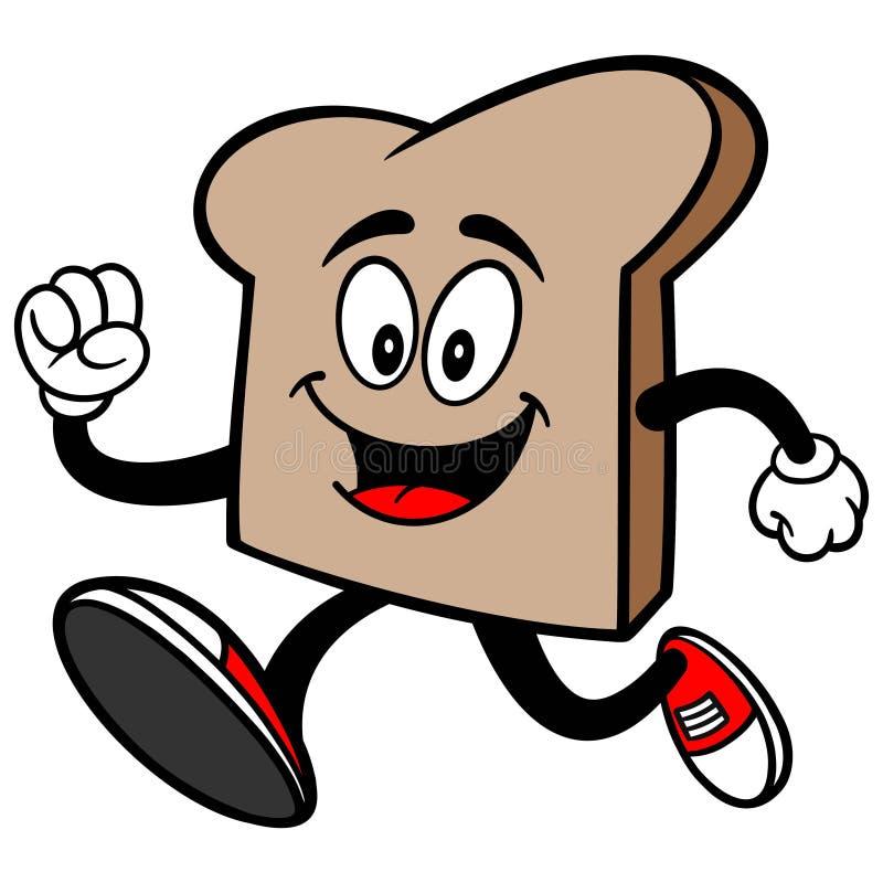 Bread Slice Running stock illustration