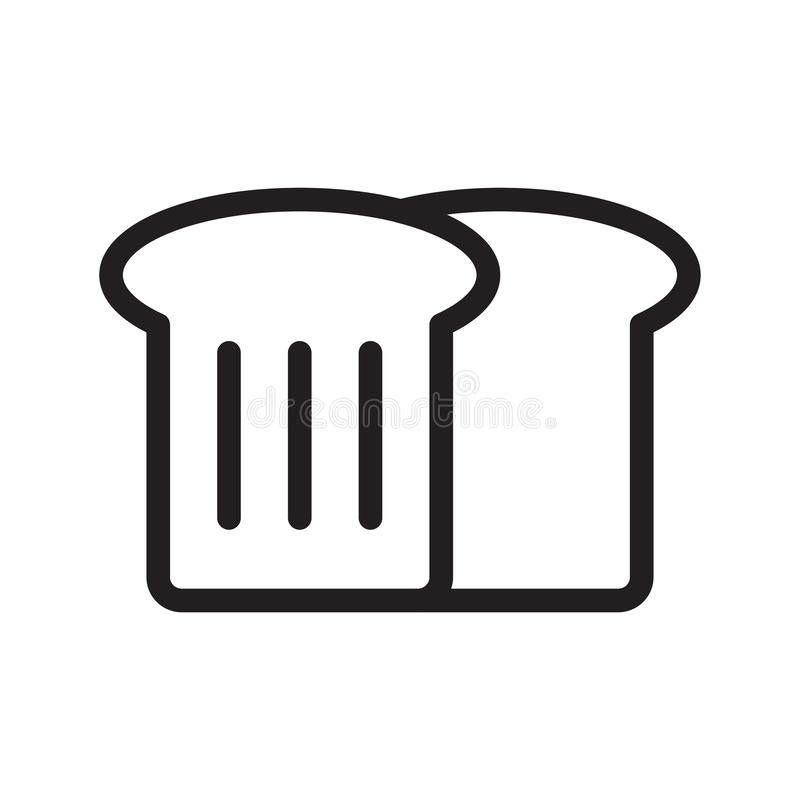 Bread slice thin line vector icon vector illustration