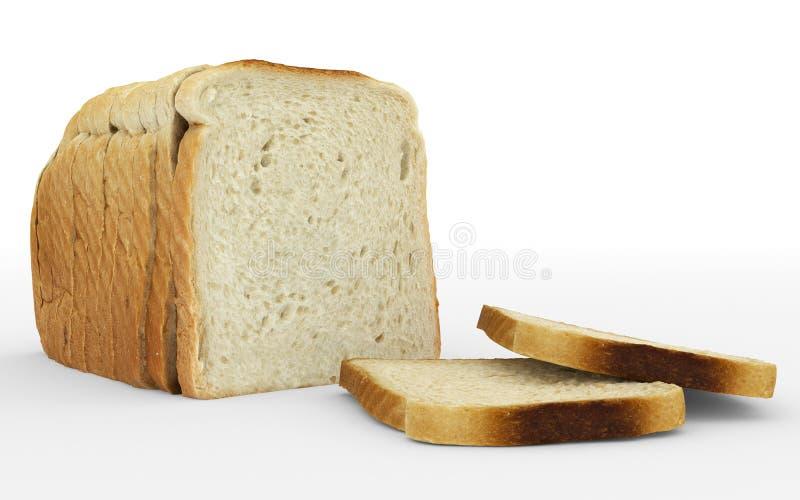 Bread sliced - toast - arrangement isolated on white royalty free illustration