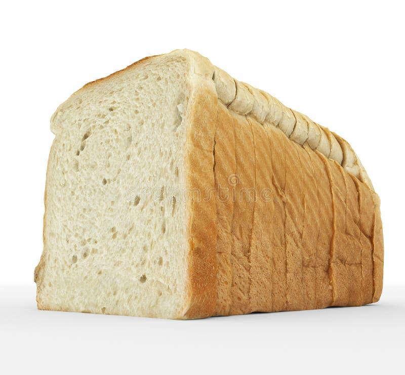 Bread sliced - toast slices put together on white royalty free illustration