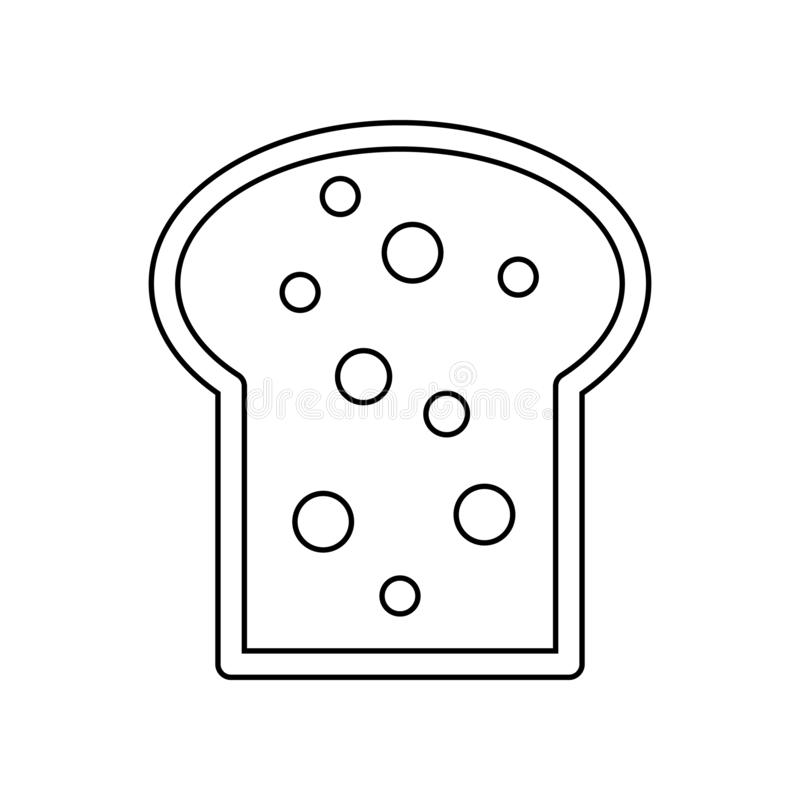 bread slices icon. Element of eating for mobile concept and web apps icon. Outline, thin line icon for website design and stock illustration