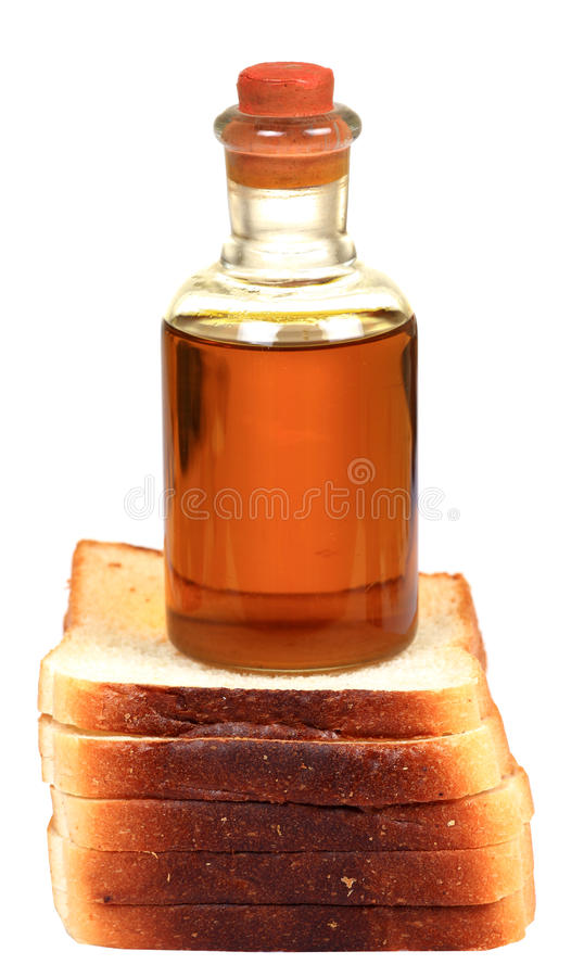Download Bread slices and olive oil stock image. Image of white - 20609455