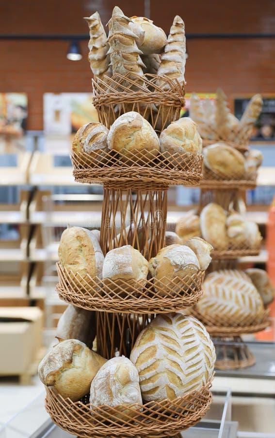 Bread specialty. Traditional bread specialty bakery raion shopciabata pave ornamente oltenesti romania stock image