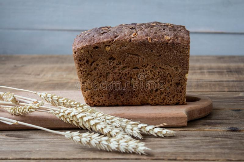 A bread with spikelets royalty free stock images