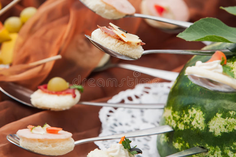 Download Bread spoon stock photo. Image of platter, lunch, food - 26028906