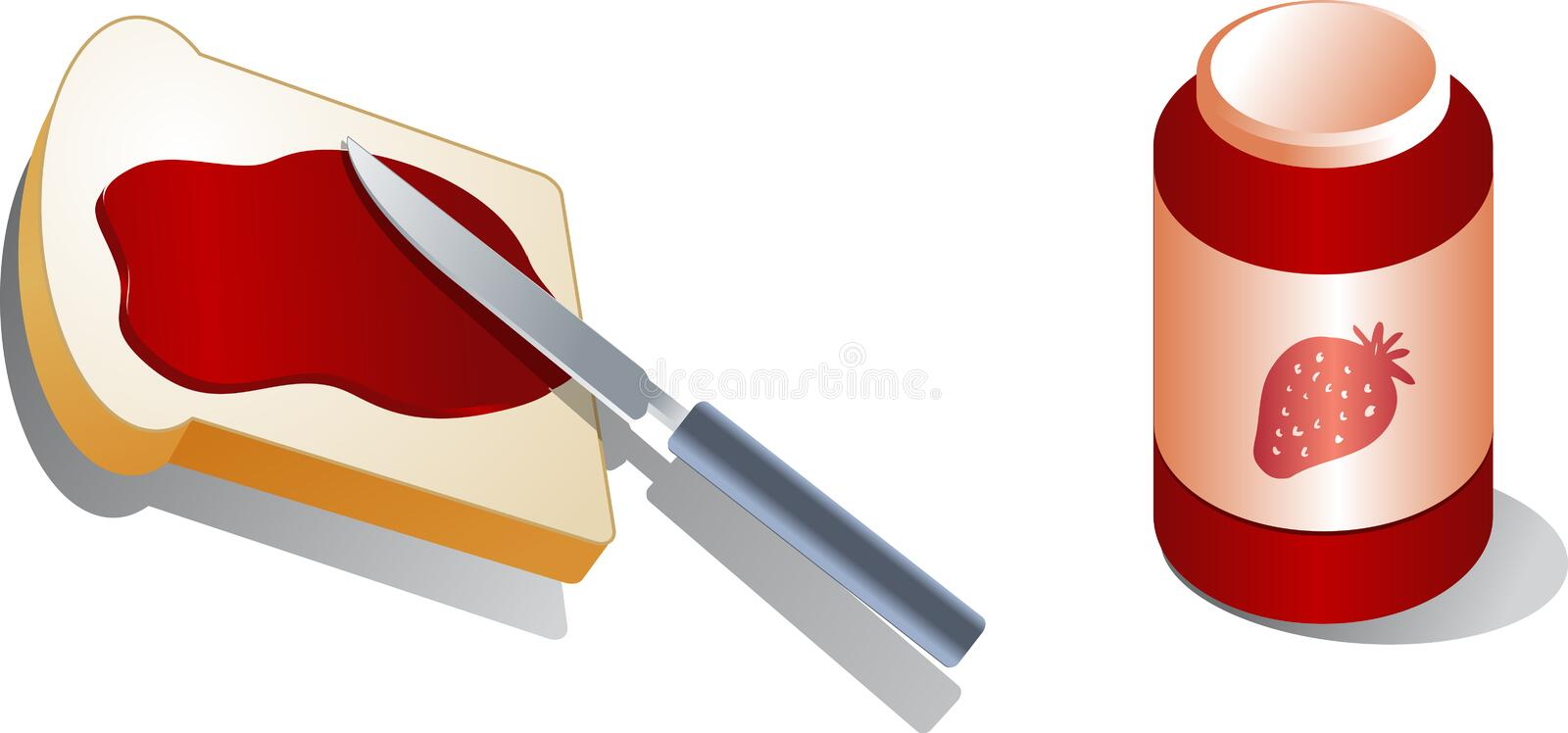 Bread with spread royalty free illustration