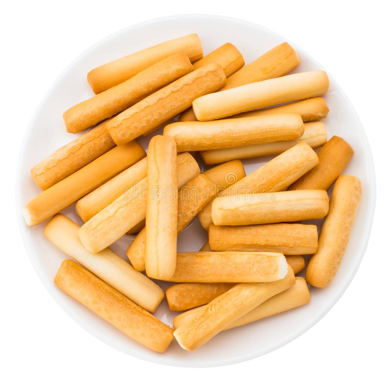 Bread sticks isolated on white background. With clipping path.  stock image
