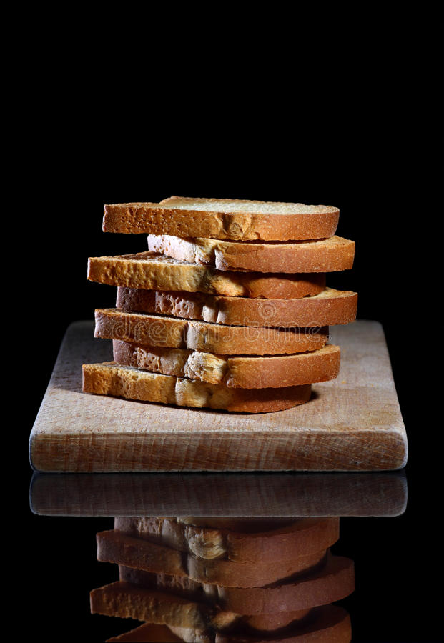 Download Bread toasts stack stock photo. Image of slices, reflection - 31242296