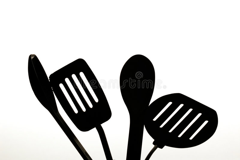 Bread and Utensils stock photos
