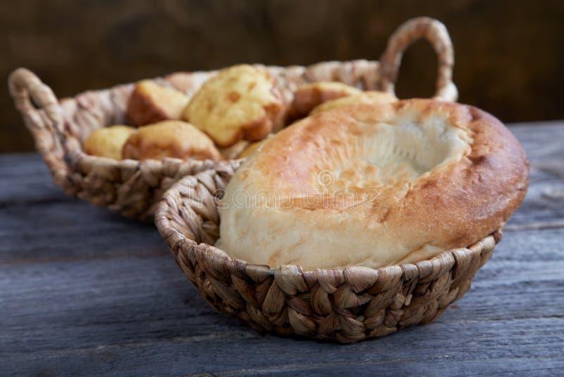 Bread In Wattled Baskets Royalty Free Stock Photo
