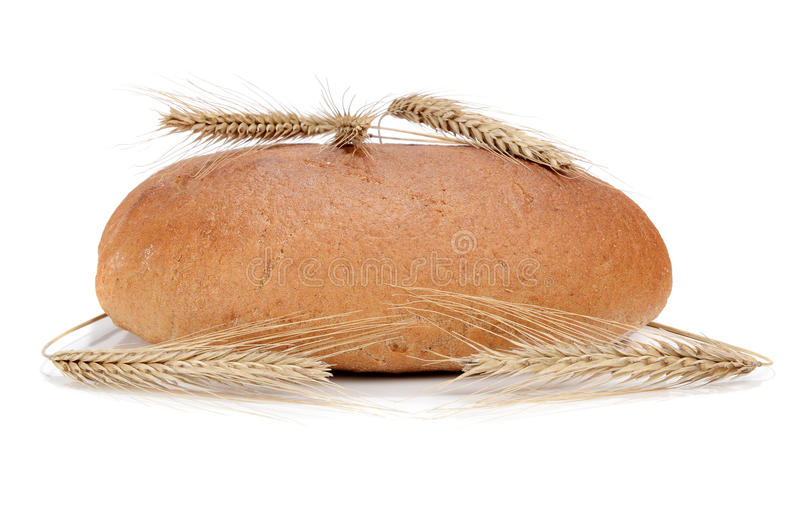 Bread from a wheat stock photos