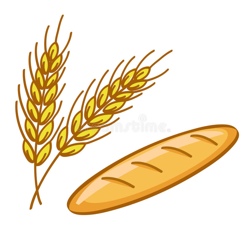 Bread and wheat royalty free illustration