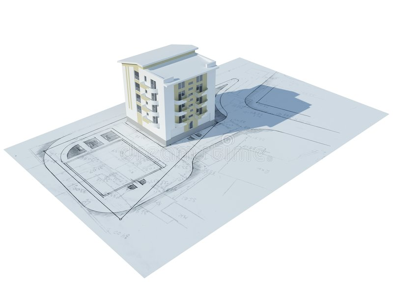 breadboard μοντέλο σπιτιών ελεύθερη απεικόνιση δικαιώματος