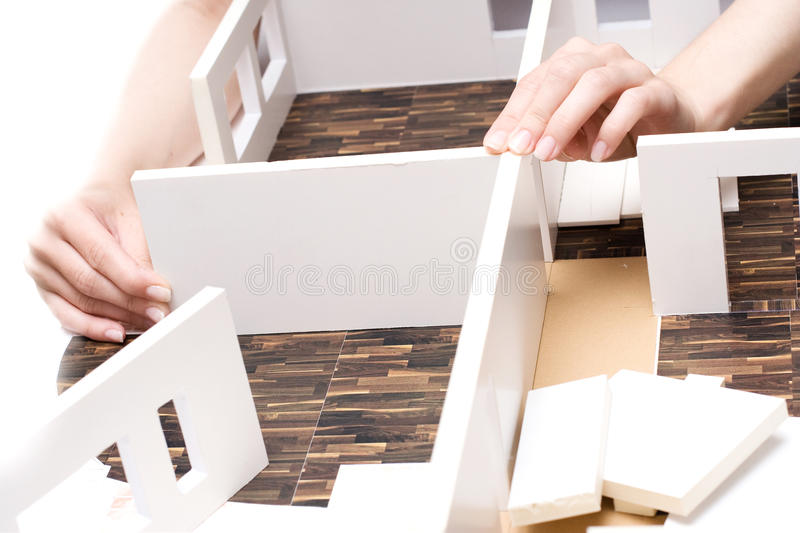 Breadboard model of an interior royalty free stock photography