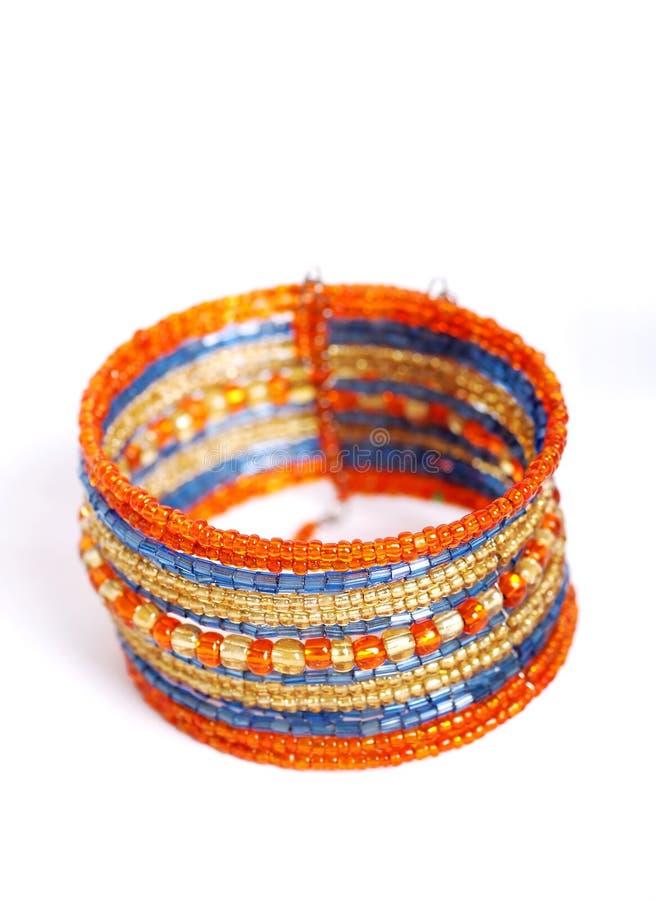 Breaded bracelet stock image