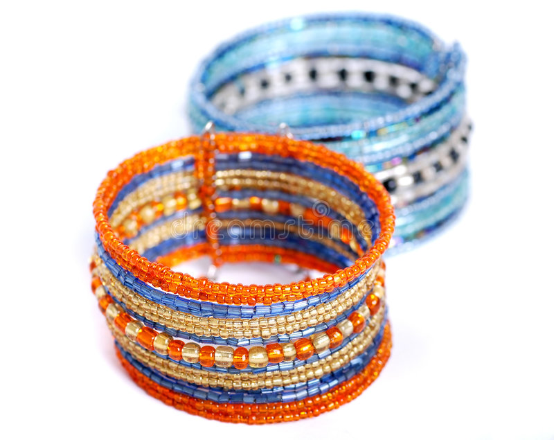 Breaded bracelet royalty free stock images