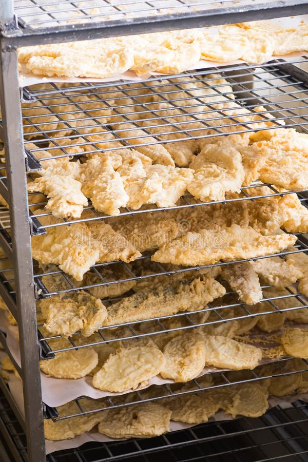 Breaded fish fillet stock photo