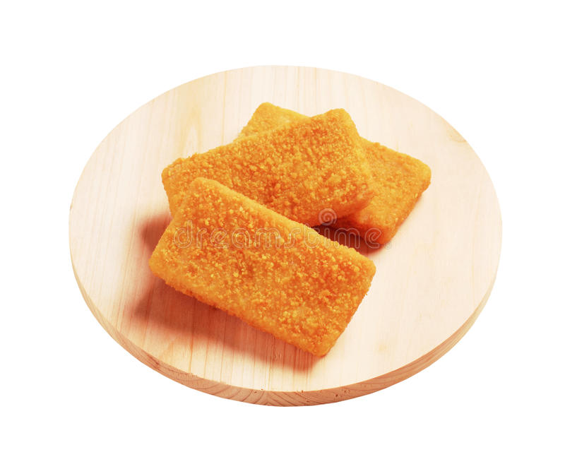 Breaded fish fillets royalty free stock photo