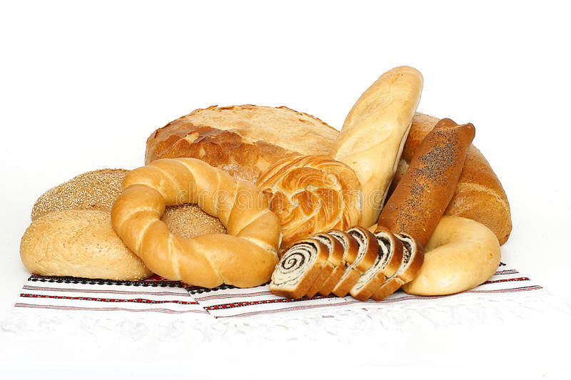 Breads and loafs stock photo