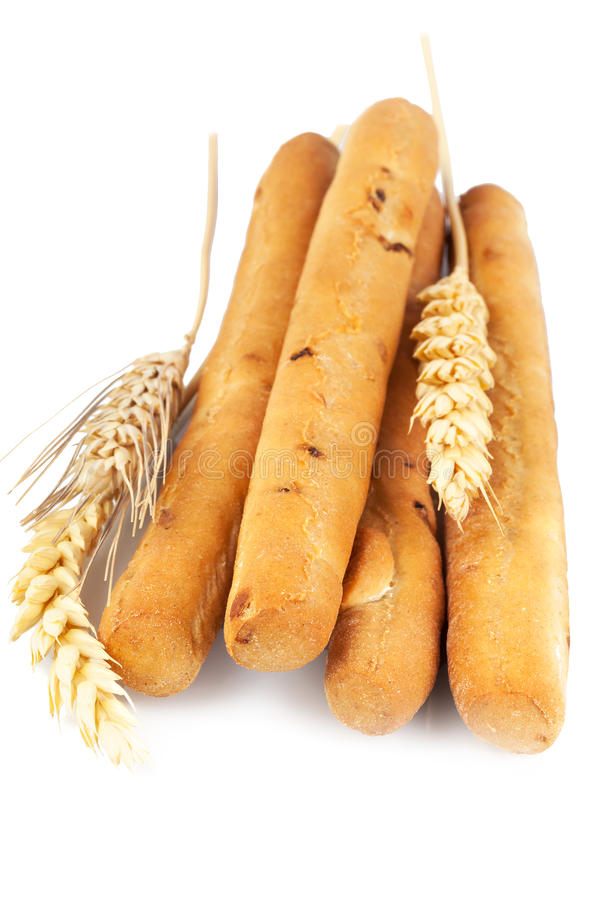 Breadsticks with ears stock photography