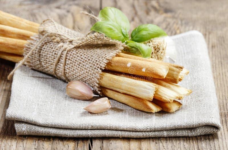 Breadsticks italianos tradicionales fotos de archivo