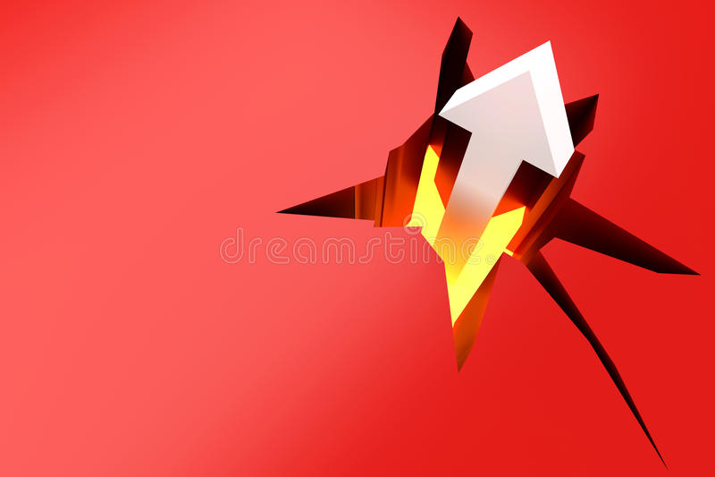Download Break through stock illustration. Illustration of abstract - 26498583