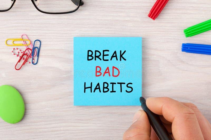 Break Bad Habits royalty free stock images