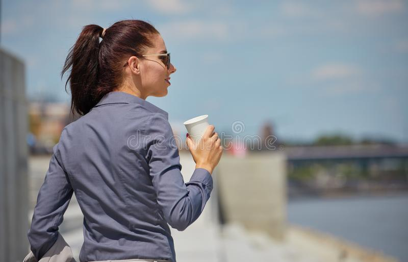 Break city time, Business woman concept stock image