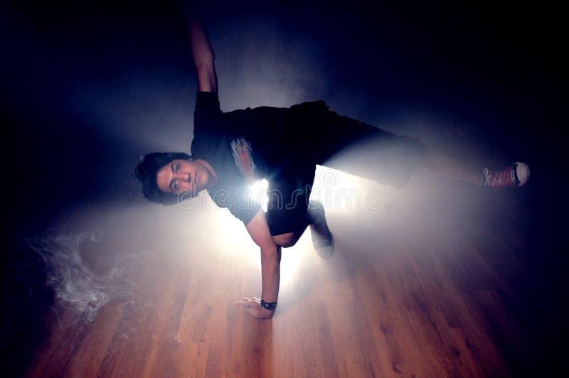 Break dance. A kuwaiti Boy dancing (break dance royalty free stock image