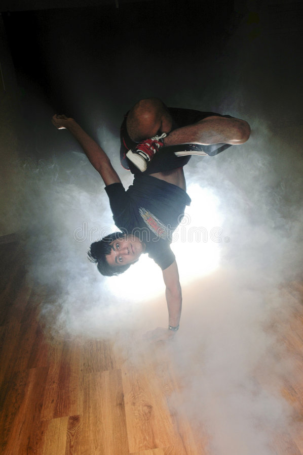 Break dance. A kuwaiti Boy dancing (break dance stock images