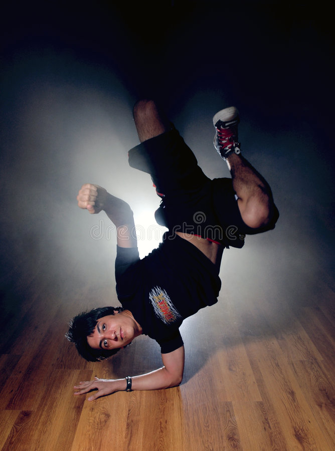Break dance. A kuwaiti Boy dancing (break dance stock photo