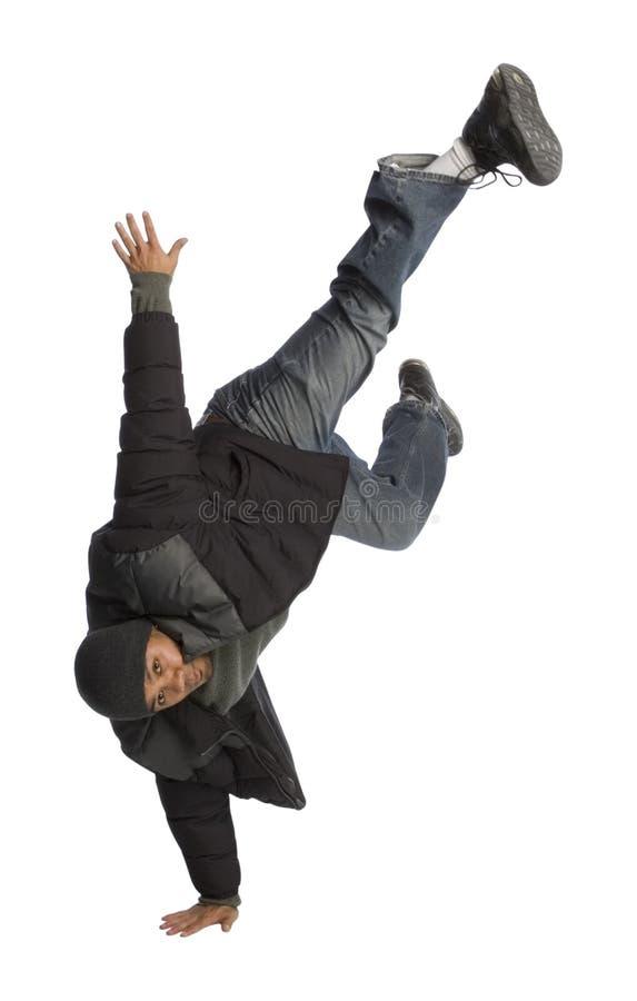 Break Dance. Filipino man break dancing or doing a handstand royalty free stock photography