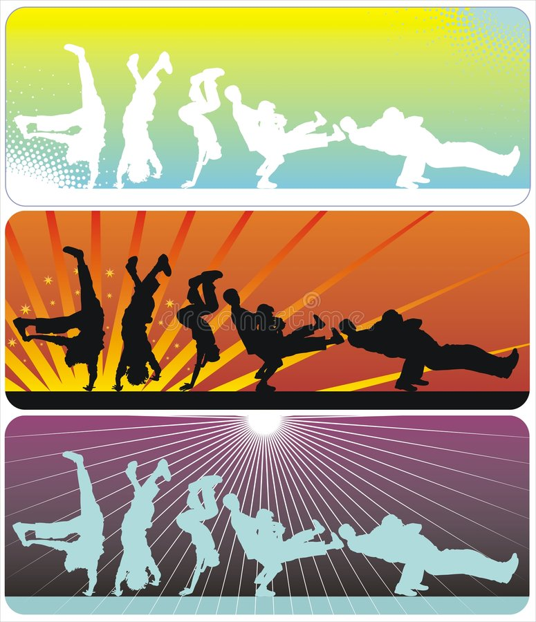 Download Break Dance stock vector. Image of dancers, dancing, clip - 8818850