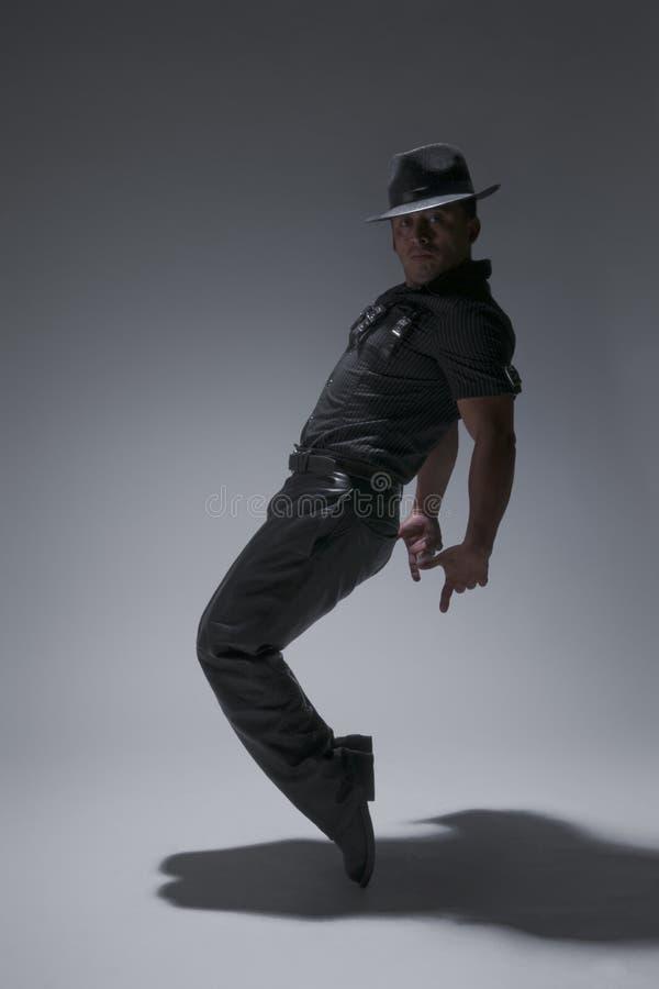 Break-dance Dancing Step. A young man in a break-dance dancing step royalty free stock photo