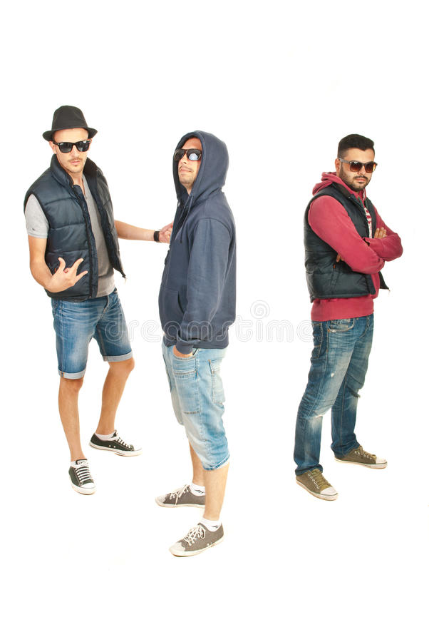 Break Dance Team Of Guys Royalty Free Stock Photos