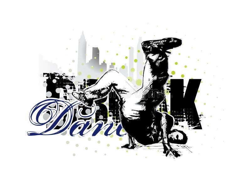 Download Break dancer stock vector. Image of breakin, dance, break - 15768254
