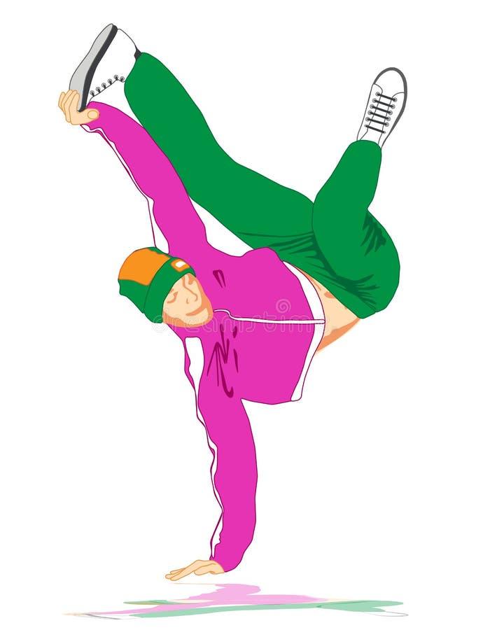 Download Break dancer stock vector. Image of acrobat, club, abstract - 28813722