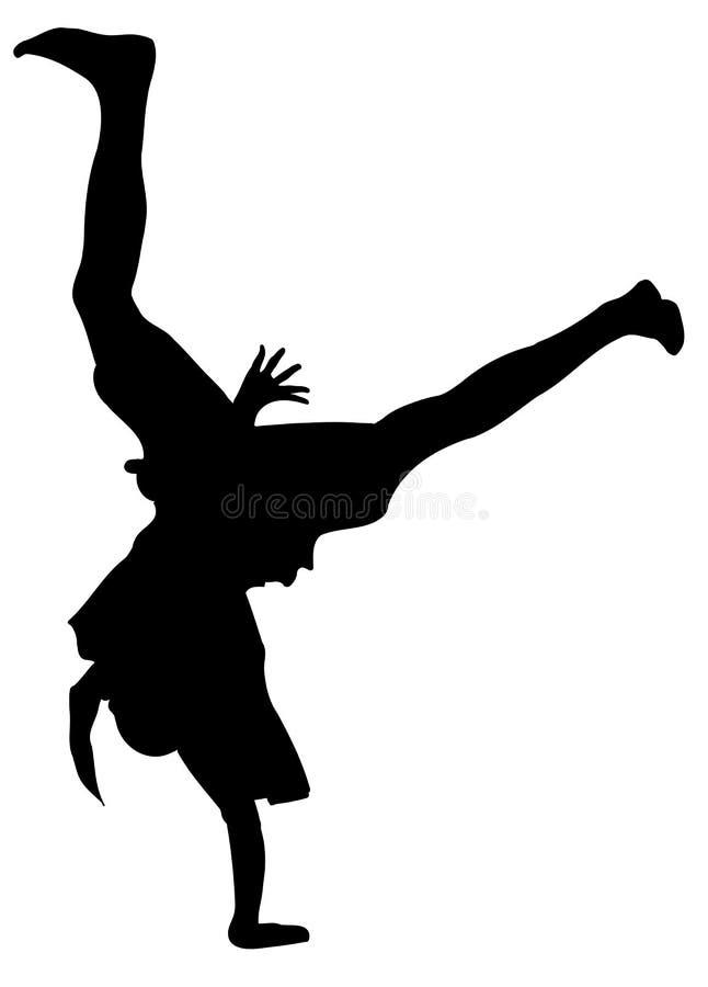 Download Break dancer stock vector. Illustration of dance, silhouette - 7118368