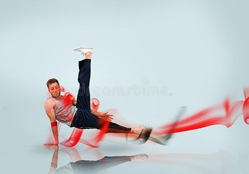 Download Break dancer in action stock illustration. Illustration of handstand - 31160647
